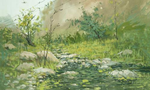 风景画印刷